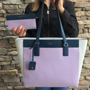 Kate Spade Laptop Tote with  Matching Wallet